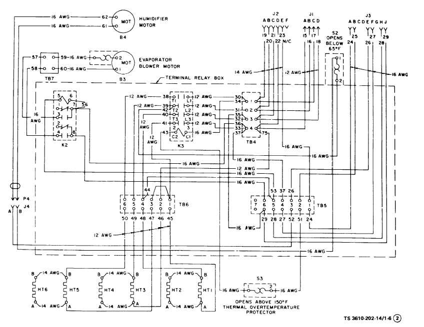 Figure 1-6. Air Conditioner Wiring Diagram (Sheet 2 of 3)
