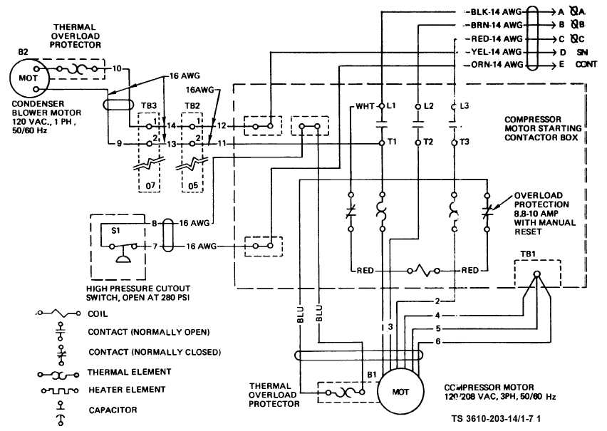 TM 10 3610 203 14_18_1 figure 1 7 air conditioner wiring diagram (sheet 1 of 3) hvac wiring diagram at crackthecode.co