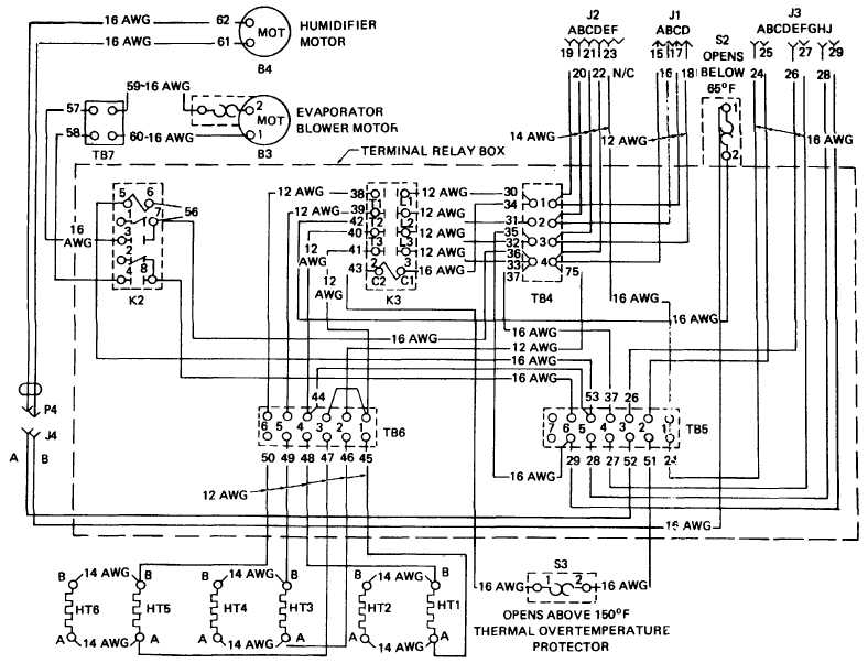 TM 10 3610 203 14_19_1 figure 1 7 air conditioner wiring diagram (sheet 2 of 3) electrical circuit diagram of air conditioner at crackthecode.co