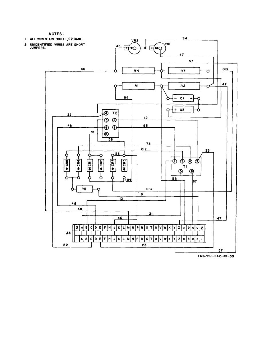 Figure 6 35 Power Supply Assembly Point To Wiring Diagram Diagrams Tm 11 6720 242