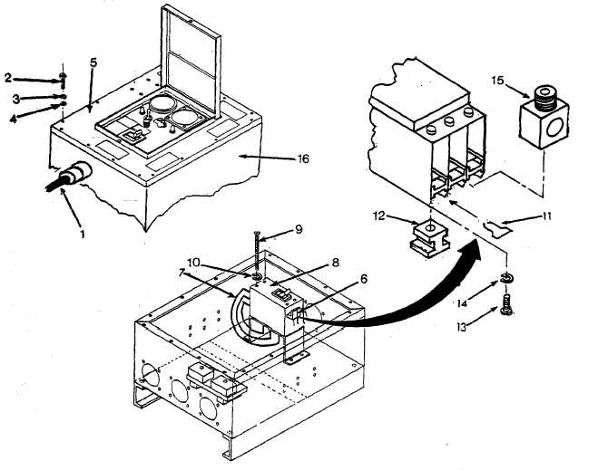 Figure 4 19 Replacing Circuit Breaker Power Distribution Box Assembly