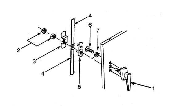 Figure 4-15. Door Handle Assembly